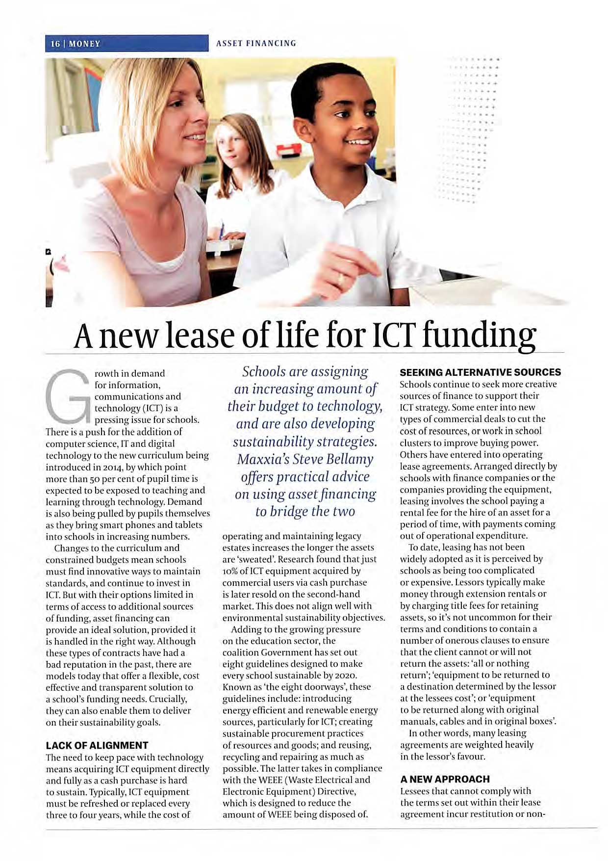 A new lease of life for ICT funding