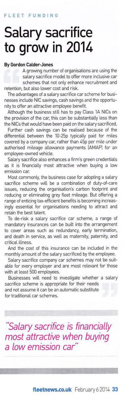 salary sacrifice to grow in 2014