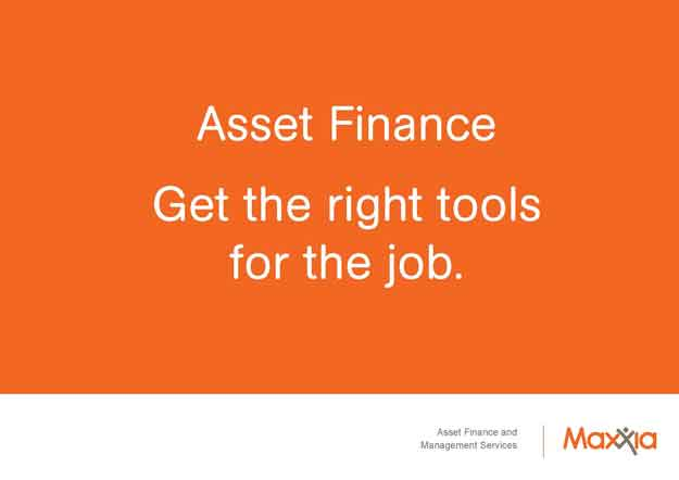 Asset finance - right tools for the job