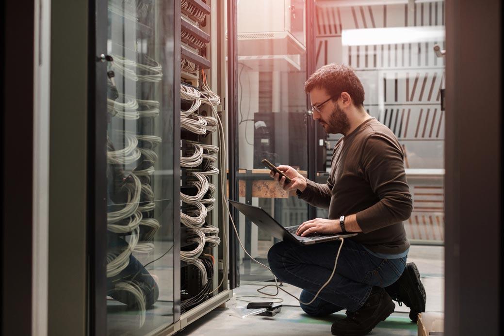 IT Technician in server room