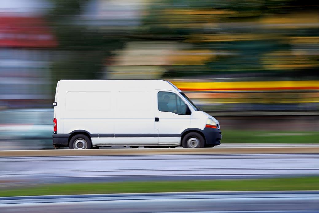 Van driving