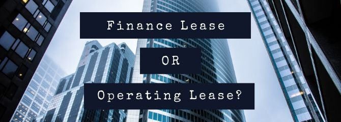 finance lease or operating lease